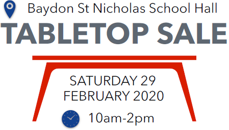 Table Top Sale in aid of the Church